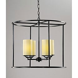 Shopzilla - Hampton Bay 5 Light Brushed Nickel Chandelier Black