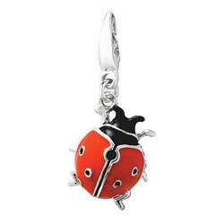 Sterling Silver/ Enamel Ladybug Charm