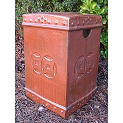 Square Double Coin Bronze Ceramic Garden Stool
