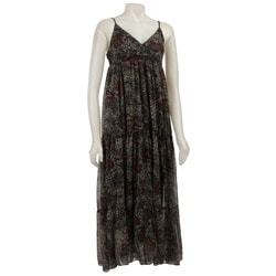 Magic Women's Paisley Georgette Maxi Dress