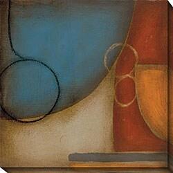 DeRosier 'Blue & Orange I' Giclee Canvas Art