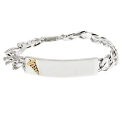 14K Gold Medical ID Bracelet W Curb Chain | Religious Jewelry Review
