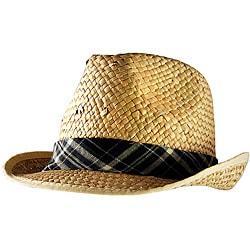 Yesac Unisex Panama Straw Fedora Hat