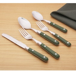 Ginkgo Le Prix 20-piece Moss Green Flatware Set