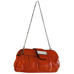 Calvin Klein Women's Tangerine Leather Clutch with Detachable Chain from Overstock.com