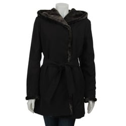 Calvin Klein Women's Reversible Wrap Storm Coat