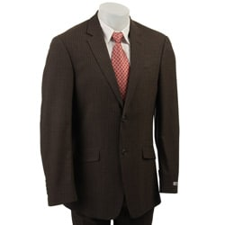 Overstock - Kenneth Cole Slim Collection Men's Wool Brown Suit - $118.99