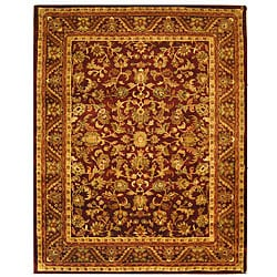 Safavieh Handmade Exquisite Wine/ Gold Wool Rug (9'6 x 13'6)