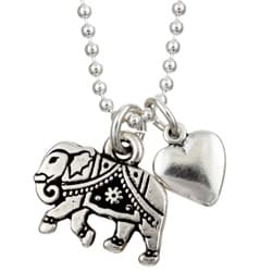 Charming Life Good Luck Elephant Charm Necklace