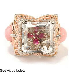 Michael Valitutti Palladium Silver Rock Crystal Ring