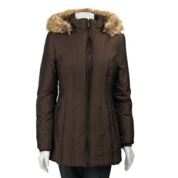 Anne Klein Zip-front Hooded Parka
