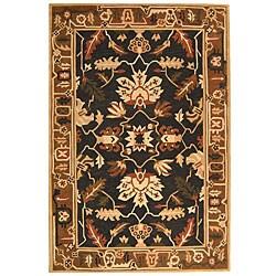 Safavieh Handmade Arts & Crafts Graphite/ Camel N.Z. Wool Rug (3'6 x 5'6)