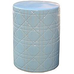 Cane Round Ocean Ceramic Stool