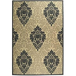 Safavieh Indoor/ Outdoor St. Barts Sand/ Grey Rug (6'7 x 9'6)