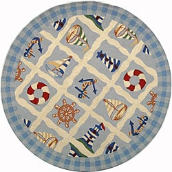 Safavieh Hand-hooked Sailor Ivory Wool Rug (4' Round)