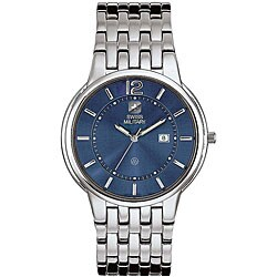Swiss Military Men's Stainless Steel Blue Rendezvous Watch