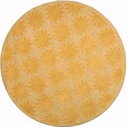 Martha Stewart Astronomy Sun Lilac Cotton Rug (6' Round)