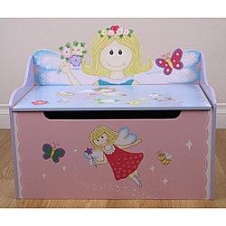 Flower Fairy Storage Toy Box Bench