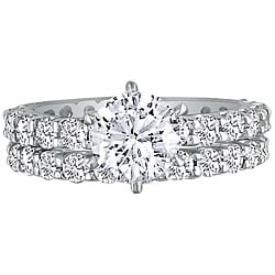 14k Gold 5ct TDW Diamond Eternity Bridal Rings Set (G-H, SI2)