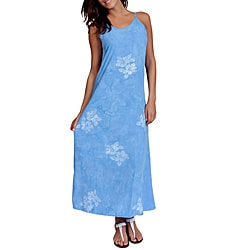 Hawaiian Style Blue Long Dress (Indonesia)