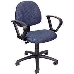 Boss Blue Mid-back Ergonomic Task Chair