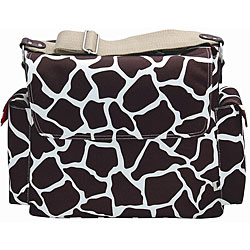 OiOi Cocoa Giraffe Print Messenger Diaper Bag.