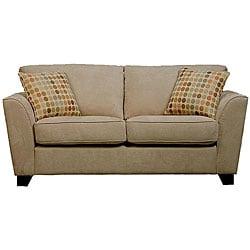 Gaff Hazelnut Velvet Microfiber Modern Sofa