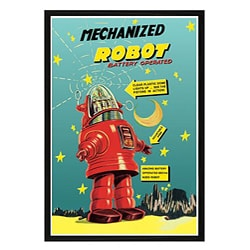 'Mechanized Robot' Framed Print Art
