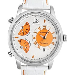 Joshua & Sons Women's Triple Time Zone Automatic Watch