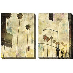 Sara Abbott 'Riviera Drive' Oversized Canvas Art Set