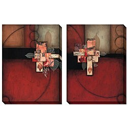 DeRosier 'Involuntary' Oversized Canvas Art Set