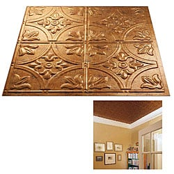 Fasade Muted Gold 2x2-foot Ceiling Panels (Set of 12)
