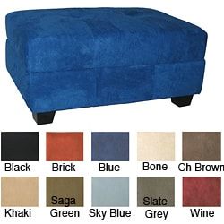 Vanderbilt Microfiber Suede Storage Ottoman