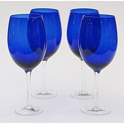 Certified International Cobalt 20-oz White Wine Glasses (Set of 8)