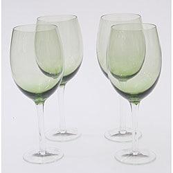 Certified International Olive Green 20-oz White Wine Glasses (Set of 8)