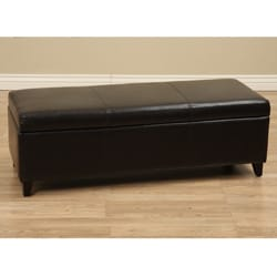 Sharon Bi-cast Leather Storage Bench