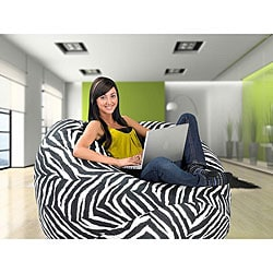 Zebra Large Memory Foam Lounge Bag