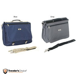 American Tourister Blue Expandable Laptop Messenger Bag