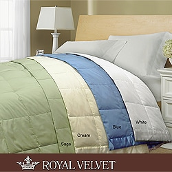 Royal Velvet 250 Thread Count White Down Blanket