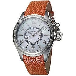 Hamilton Women's Navy Seaqueen Steel Diamond Watch