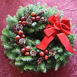 Harvest Deluxe 24-inch Fresh-cut Maine Balsam Wreath