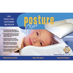 Posture Plus Solid Latex Contoured Pillow