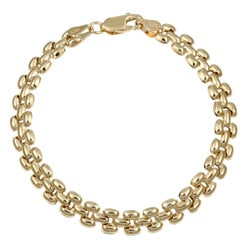 14k Gold over Silver 7-inch Panther-inspired Bracelet
