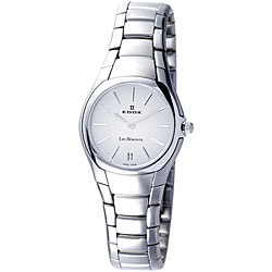 Edox Swiss Women's Les Bemonts Ultra-slim Stainless Steel Watch