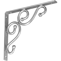 Decorative Satin Nickel Brackets (Set of 6)