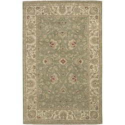 Hand-knotted Chronos New Zealand Hard-twist Wool Rug (5'6 x 8'6)