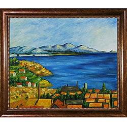 Paul Cezanne 'The Gulf Marseilles' Oil Painting Canvas