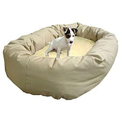 Majestic Pet Bagel-style Khaki 32-inch Dog Bed
