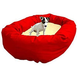 Majestic Pet Bagel-style Red 52-inch Dog Bed