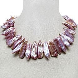 Freshwater Biwa Pink Pearl 18-inch Necklace (12-14 mm)